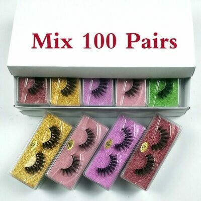 Mink-Lashes Bulk Natural 3d 30/40/50/100pcs