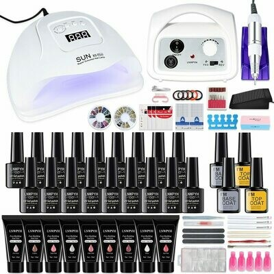 Nail-Set Nail-Drill-Machine Led-Lamp Building-Gel 35000RPM 54W And Quick UV
