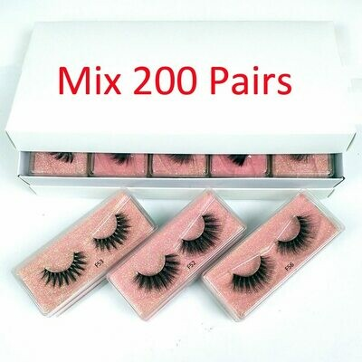 Eyelashes Bulk Makeup Natural Wholesale 3D Hand-Made 30/50/100/200-pairs