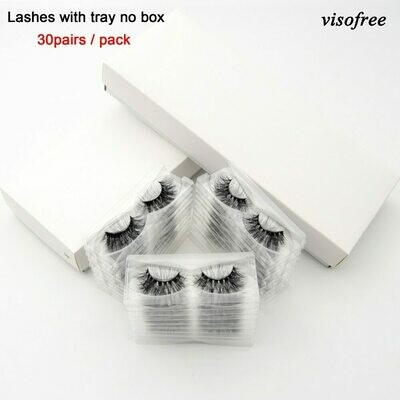 30/40/100-pairs Eyelashes Tray Mink Visofree Makeup 3D with No-Box Handmade Full-Strip