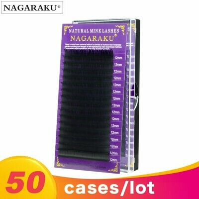 50-Cases Eyelashes-Extension Natural NAGARAKU High-Quality All-Size Grafting Synthetic-Mink-Material