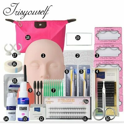 Head-Set Eyelash-Tools-Kit Mannequin Training-Kit Exercise False Practice Grafting