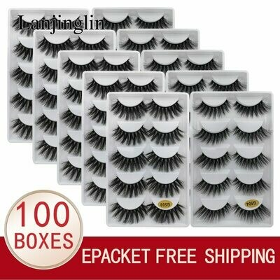 False-Eyelash 3d-Lash-Book Faux-Cils Cilios Fluffy LANJINGLIN Natural Wholesale Bulk