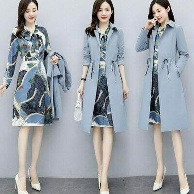 Suits Dress Blazer Office Woman Ladies Robe Fashion Long with Ensemble Femme Deux-Pieces