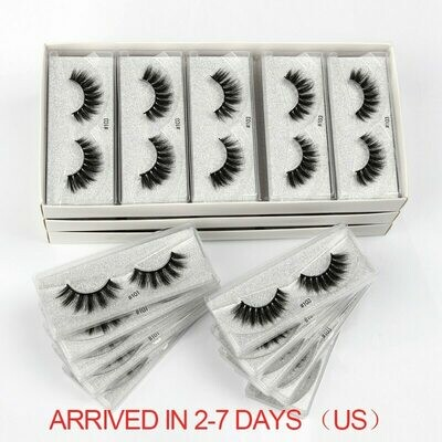 Faux-Mink-Lashes Cils Fluffy-Volume Bulk SHIDISHANGPIN Natural Wholesale Long 3d 10/30/50/100pcs