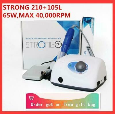 Manicure-Machine Handpiece Nail-Drills Electric-File-Bits Pedicure 40000rpm 102L Strong 210
