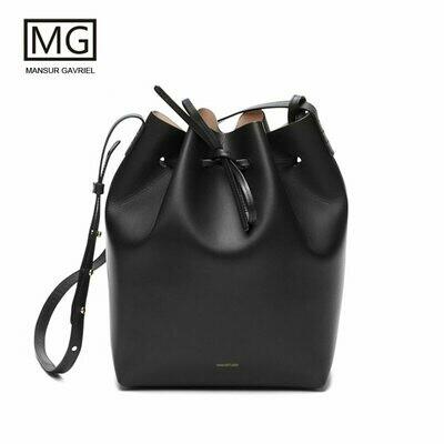 Women Handbag Bucket-Bag Mansurgavriel Real-Leather Lady