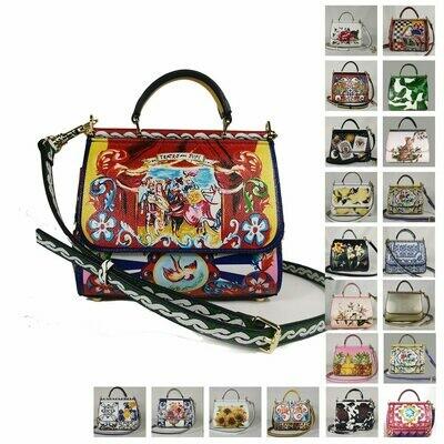 Women's Bags Flowers Bag-Design Luxuri Handbag Floral Female Miss-Sicily Woman Summer