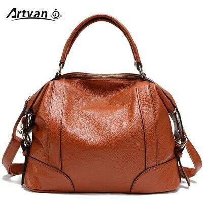 Tote-Bag Messenger-Bags Designer Genuine-Leather Women's Shoulder Female First-Layer