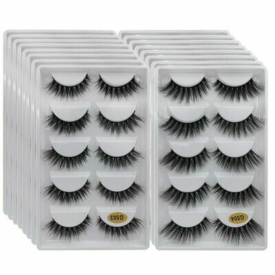 10/20/30-/.. Mink-Eyelashes Faux-Cils Bulk Natural Super-Fluffy Wholesale 5-Pairs Long