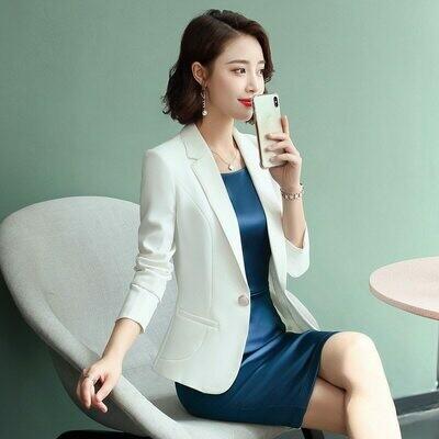 Blazer Suits Dress Business Elegant Women New Wear Winter Autumn Green Purple Professional