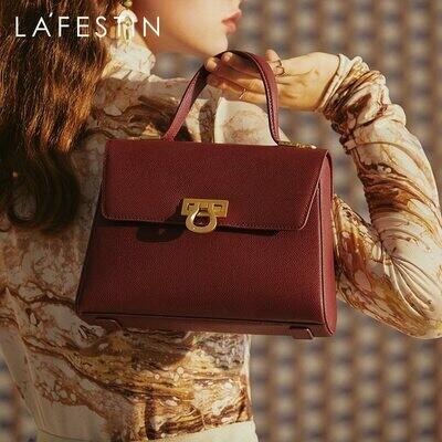 Messenger Handbag Lafestin-Bag Female Bag One-Shoulder Retro Large-Capacity Trendy Women