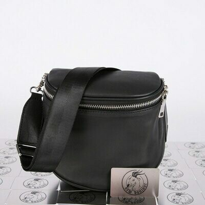 Chest-Bag Retro Genuine-Leather Women Ladies Solid for Round-Saddle-Bag Half New-Arrival