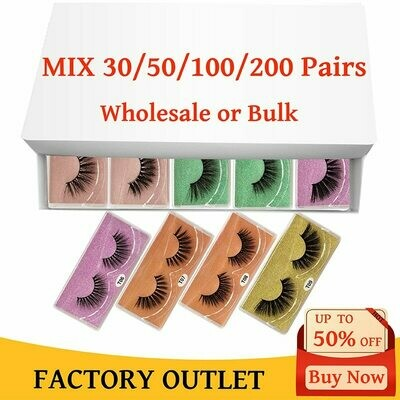 Wholesale Eyelashes Makeup Beauty Natural In-Bulk 3d 20/30/40-/..