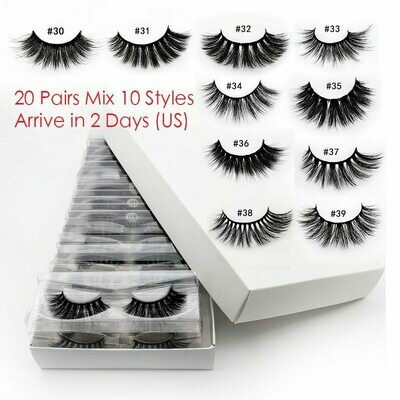 Wholesale Eyelashes Natural In-Bulk 3d 20pcs Mix
