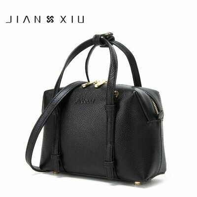 Bags Designer Tote Shoulder-Bag Handbag Luxury Litchi-Pattern Genuine-Leather Brand JIANXIU