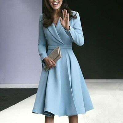Jacket Dresses Blazer Kate Middleton Suit Forma Office Elegant Ladies Fashion Autumn
