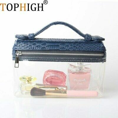 Women Handbag Clear-Bag Python Transparent Ladies Ostrich Small TOPHIGH Beach Lovely