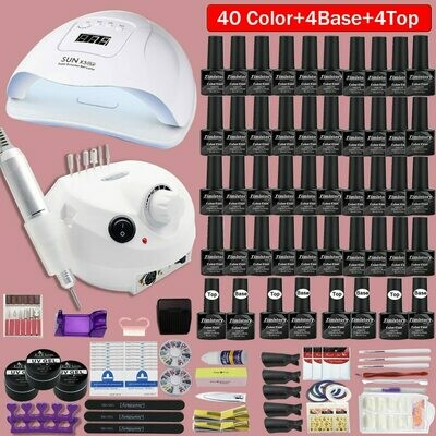 Nail-Polish Manicure Electric All-Tools 40-Colors with Needed for LED 120/80/54w
