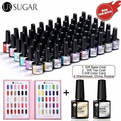 Polishes Paint-Gel Manicures Nails Ur Sugar 60colors UV Soak-Off 60pcs-Kit LED Lacquers