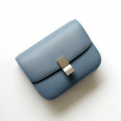 Women Bag Handbag Tofu-Bag Pink Crossbody Blue Factory Genuine-Leather Luxury-Design