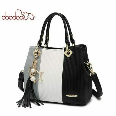 Tote-Bag Shoulder-Crossbody-Bags Handbag Messenger-Bags Color Women Ladies Female Tassel