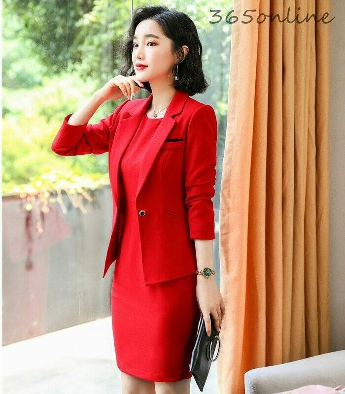 Business-Suits Dress Blazers Work-Wear Formal Coat Jackets Office Elegant Women Ladies