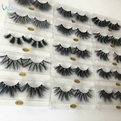 False-Lashes Makeup Cosmetics Microbrush Real-Mink-Fur Fluffy Natural In-Bulk Wholesale