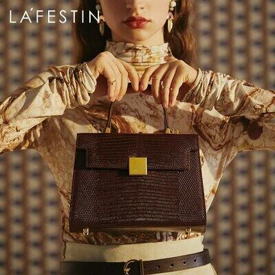 Messenger Handbag Versatile One-Shoulder La Festin Retro Female Portable Bag Trend Large-Capacity