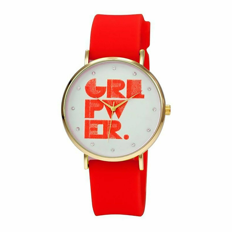 Tallworth - Girl Power Rubber Strap Watch