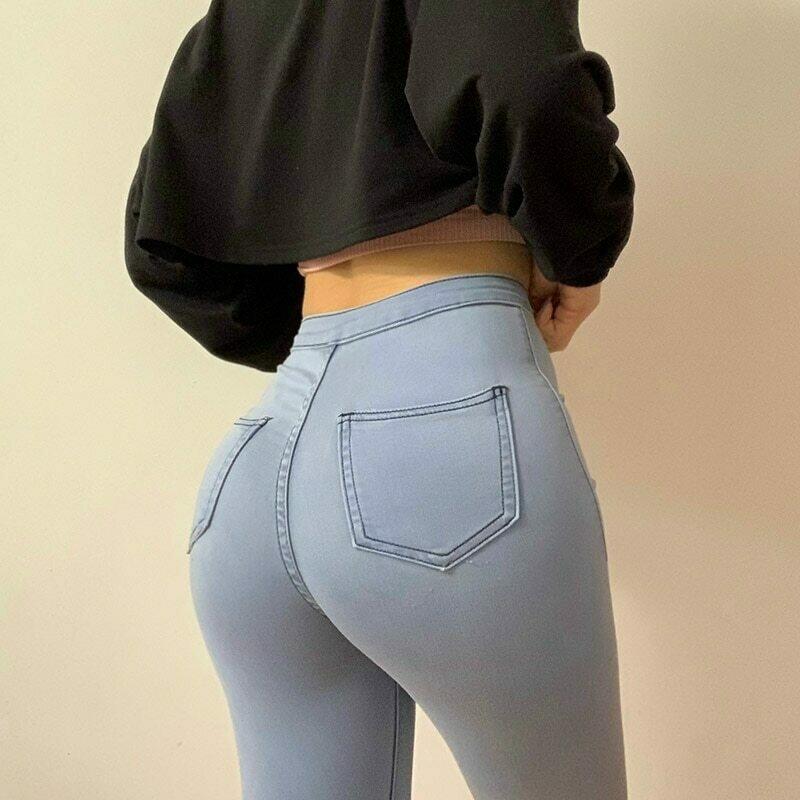 Slim Jeans For Women Skinny High Waist Woman Denim Pencil Pants Stretch Waist Slim Female Trousers Plus Size Spring Autumn