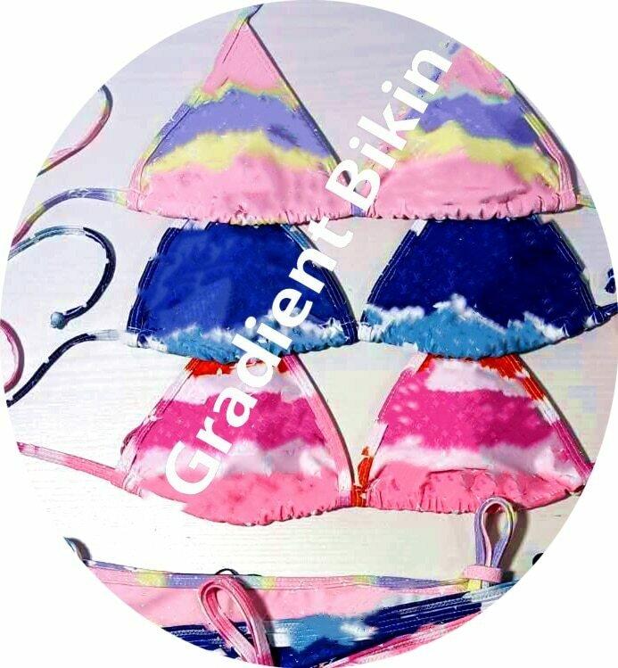 Swimwear For Women Swimsuit Bikini  2021 Push Up Sexy Multicolor Gradient Print Sierra Surfer Surf Swimsuits