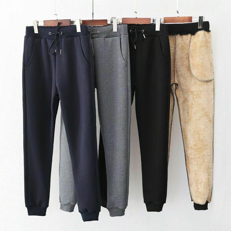 2020 Winter Women Pants Casual Loose Thicken Warm Women Pants Female Long Trousers Outwear High Waist Solid Harem Pants 2XL