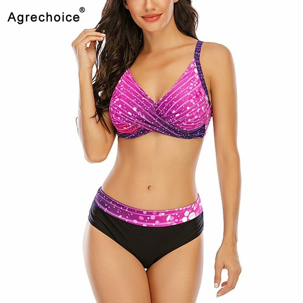2021 New Sexy Plus Size Bikini Women Swimwear Push Up Swimsuit Female Large Size Bathing Suit Summer Beachwear Swimming Suit 5XL