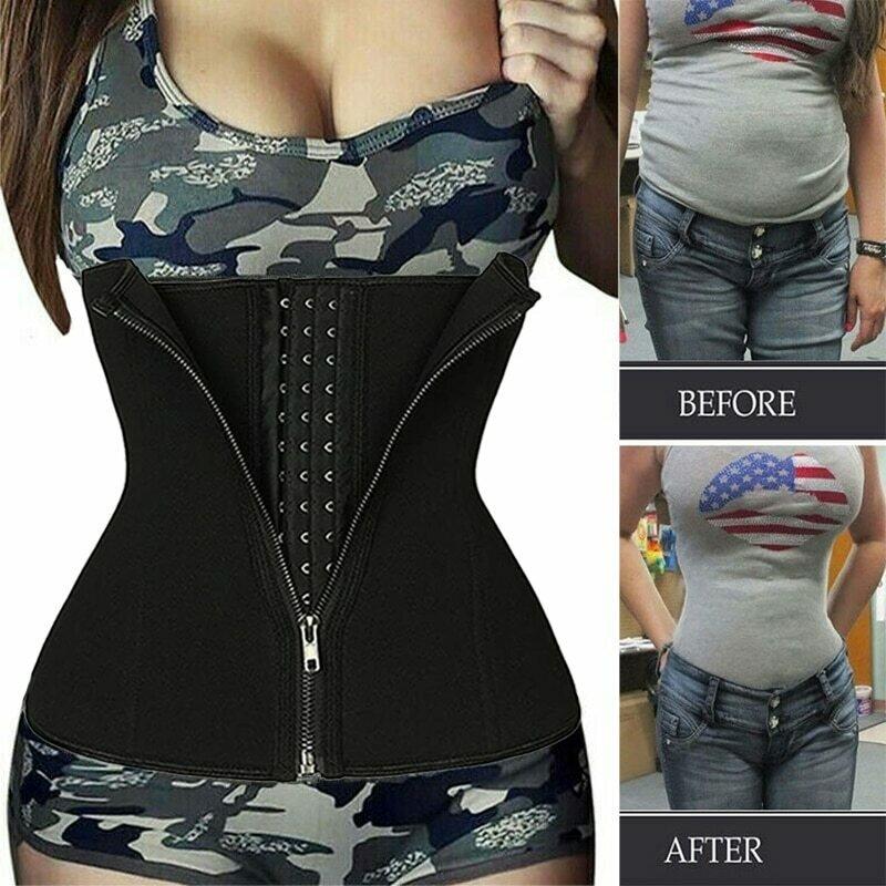 Neoprene Sweat Waist Trainer Belt Body Shaper Abdominal Trimmer Corset Fat Burning Outdoor Sports Girdle Belly Control Shapewear