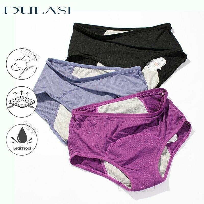 DULASI 3pcs Leak Proof Menstrual Panties Physiological Pants Women Underwear Period Comfortable Waterproof  Briefs Dropshipping