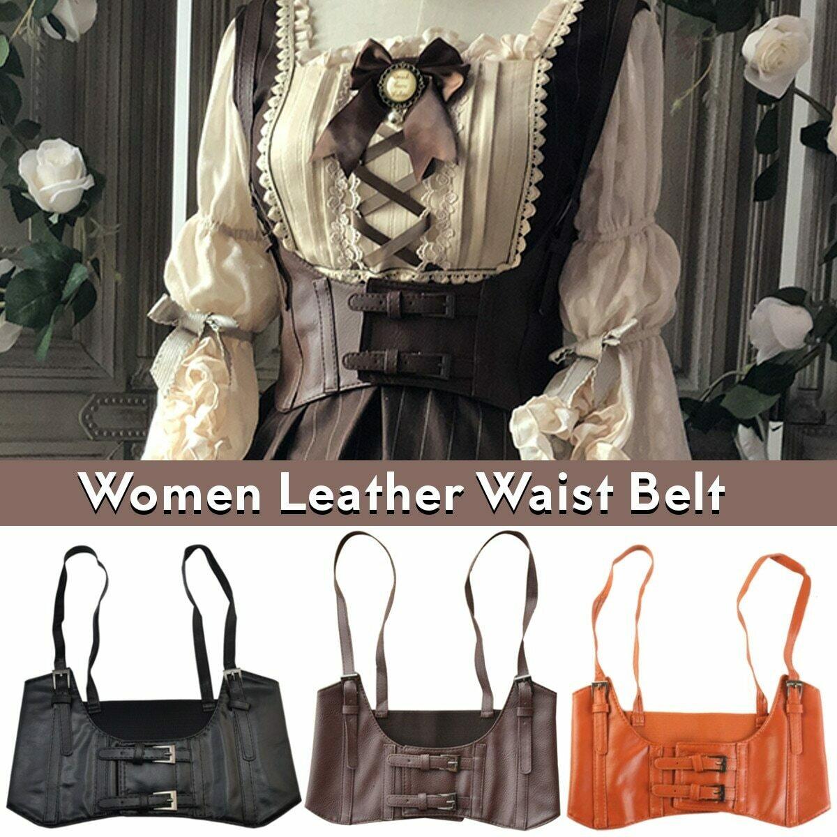 Brand New Arrival Vintage Women's Corset vest Steampunk Harness Stretchy Waistcoat Wide Cincher with Buckle Cummerbunds 2020