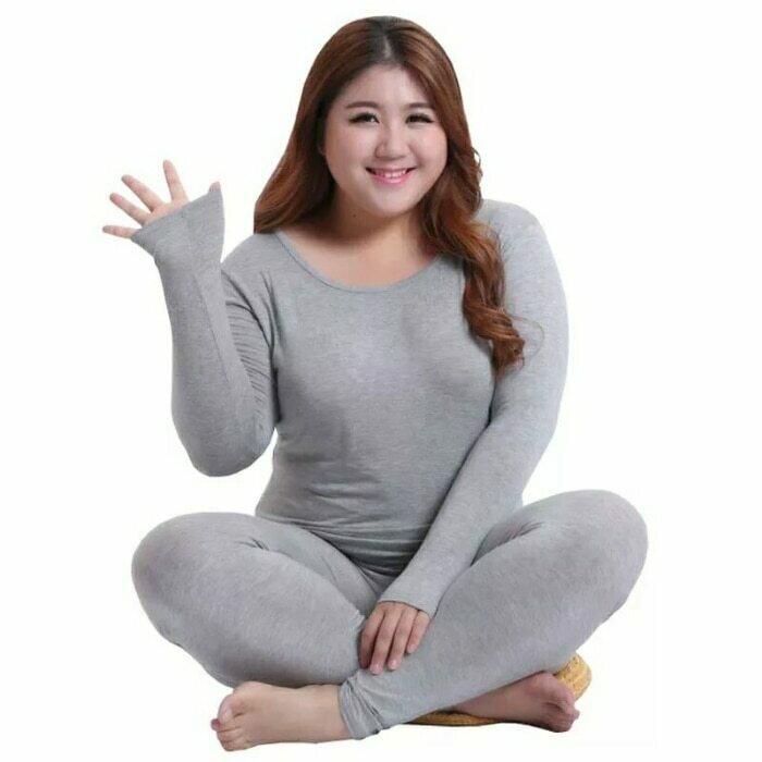 Long Sleeve Women Plus Size Thermal Long Johns Autumn Women Long Johns Solid Warm Women Thermal Underwear 3XL 4XL 5XL 90KG Wear