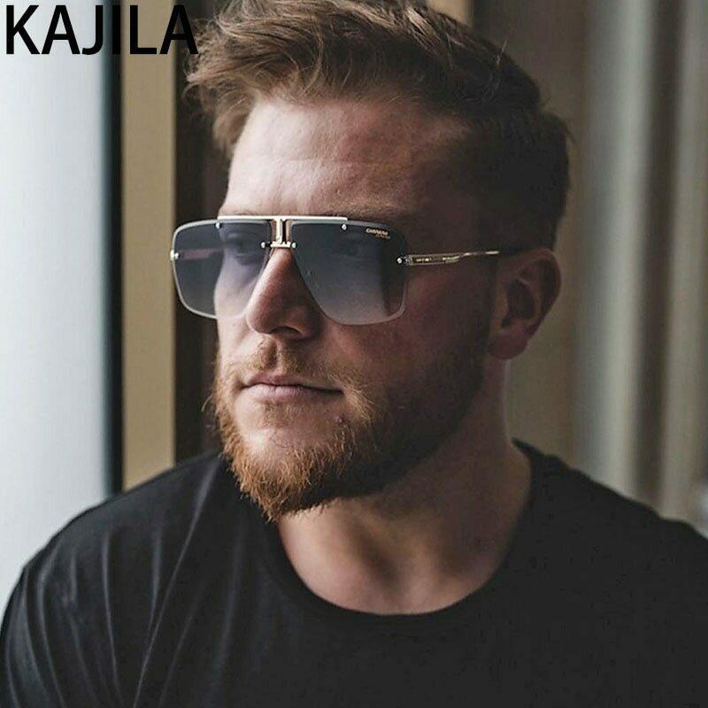 Vintage Square Rimless Sunglasses For Men High Quality Luxury Brand Retro Sun Glasses Male  Driving Eyewear Gafas De Sol Hombre