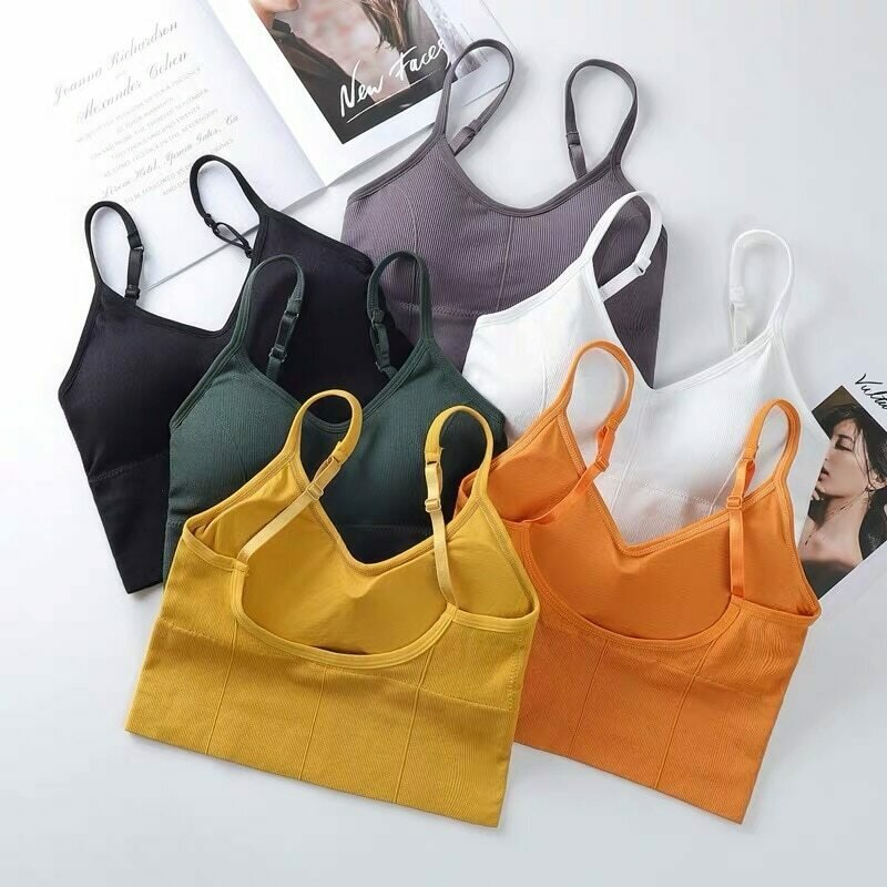 Women Bras Sexy Lingerie Crop Tops Backless Bustier Padded Sports Bra Push Up Bra Tops Girls Underwear Sport Top