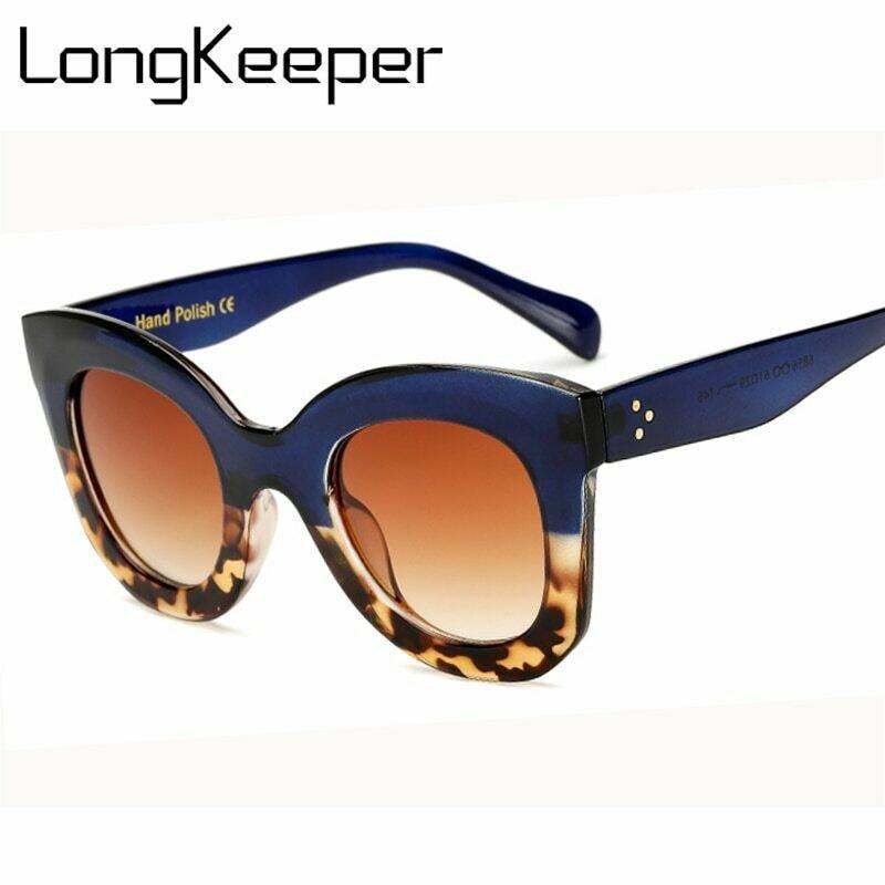 LongKeeper Cat Eye Vintage Sunglasses Women 2020 Fashion Leopard Sun Glasses Sexy Ladies Eyewears UV400 Goggles Oval Glasses