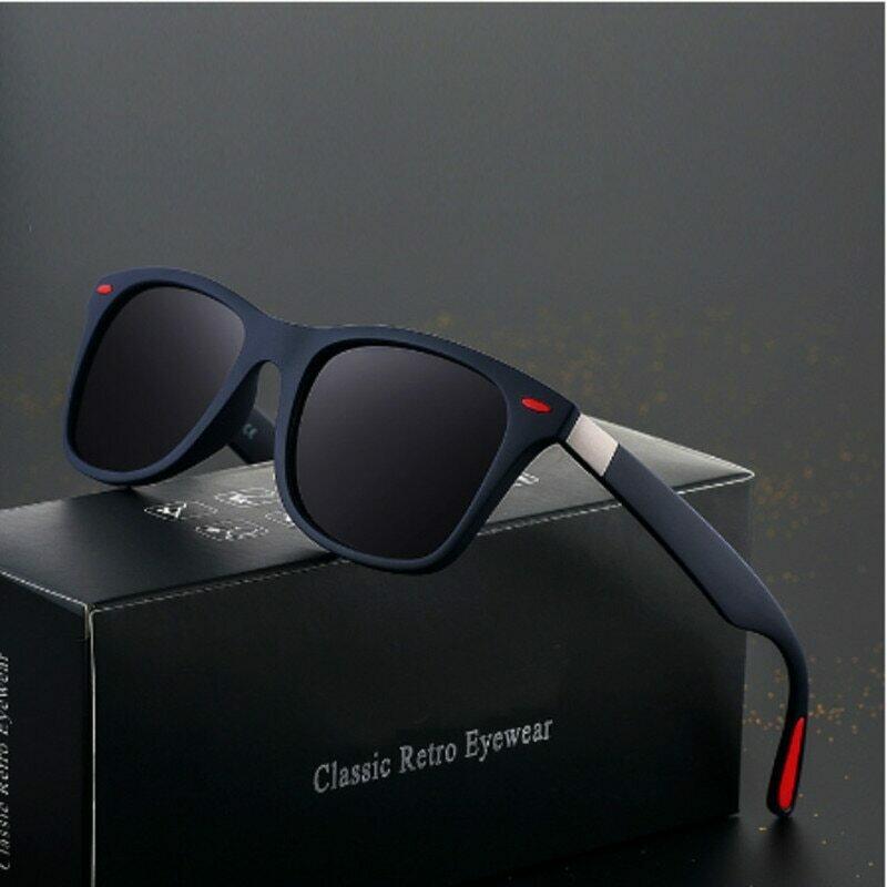 Vintage Square Men Polarized Sunglasses Brand Designer Outdoor Driving Mirror Women Retro Luxury Sun Glasses UV400