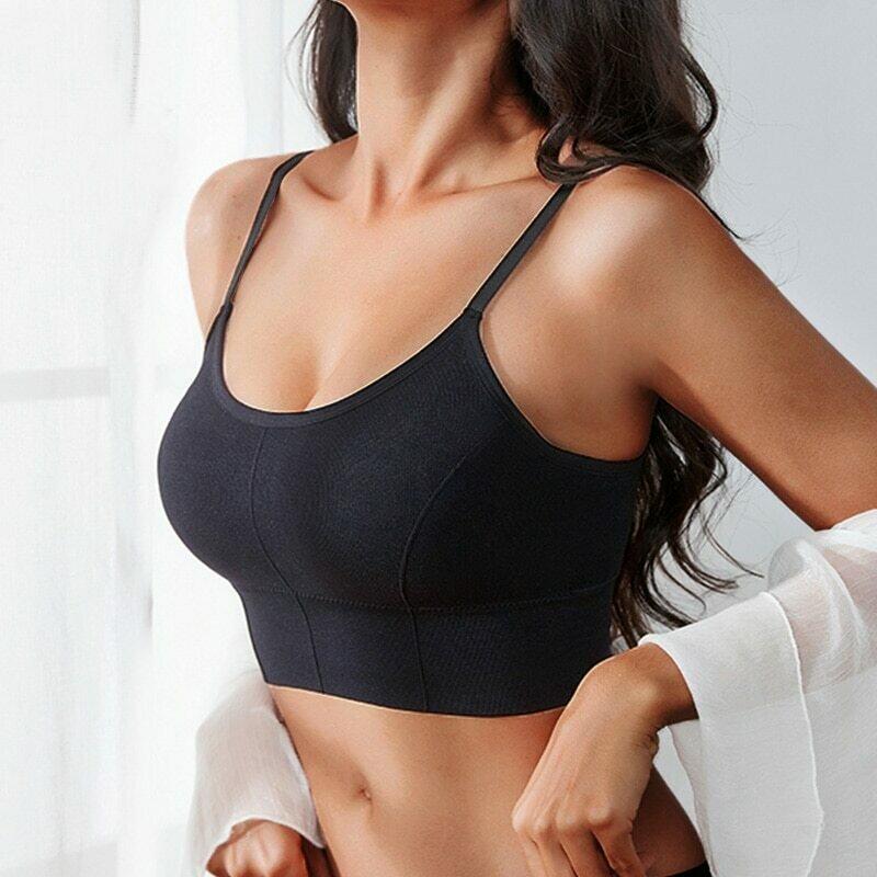 Women Tank Crop Top Sexy Female Underwear Seamless Crop Tops  Lingerie Femme Strap Adjustable Camisole Street Fashion Woman Top
