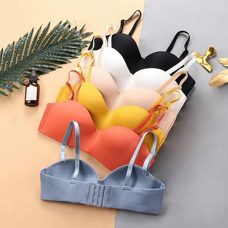 2019 New Sexy Fashion Seamless Bras for Women Push Up Lingerie Bra Half Cup Wire Free Brassiere Female Underwear Intimates