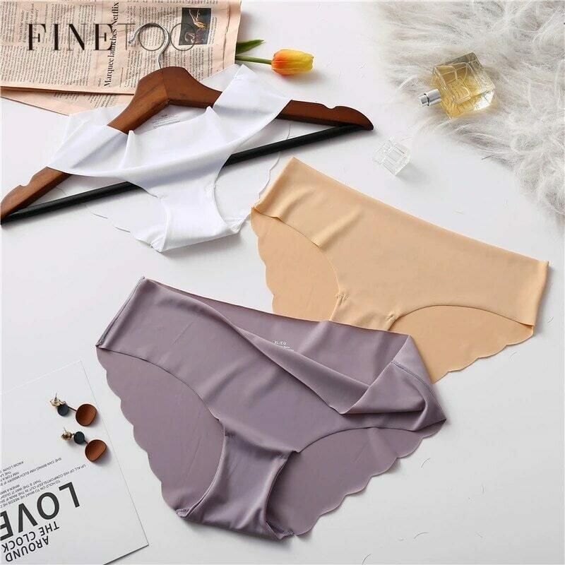 FINETOO Seamless Panty Set Underwear Female Comfort Intimates 2Pcs/lot Fashion Female Low-Rise Briefs 8 Colors Ladies Lingerie