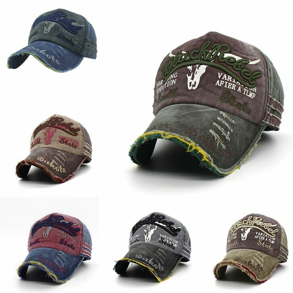 Retro Canvas Denim Letters Patchwork Vintage Baseball Cap Men Women Snapback Hat   Autumn Hip Hop Hats Winter Hat Cap
