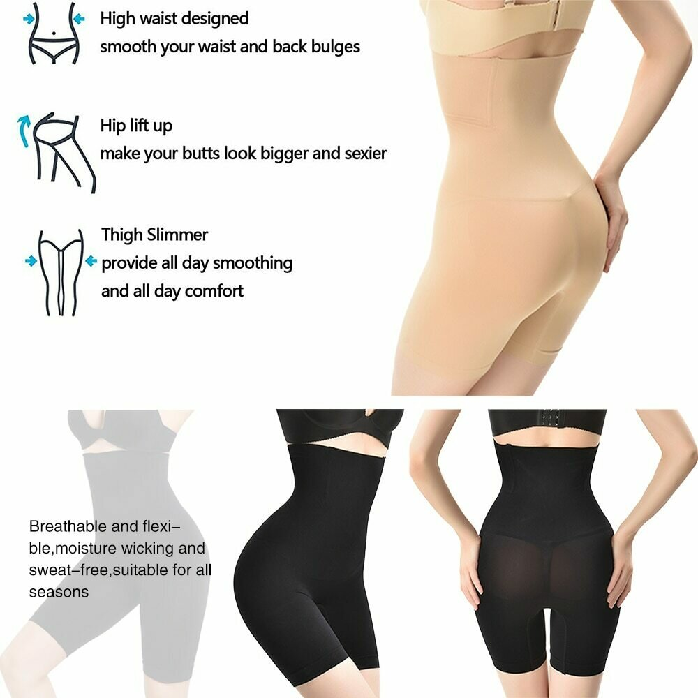 Women High Waist Shaping Panties Breathable Body Shaper Slimming Tummy Underwear Butt Lifter Seamless panty shaperwear Ladies