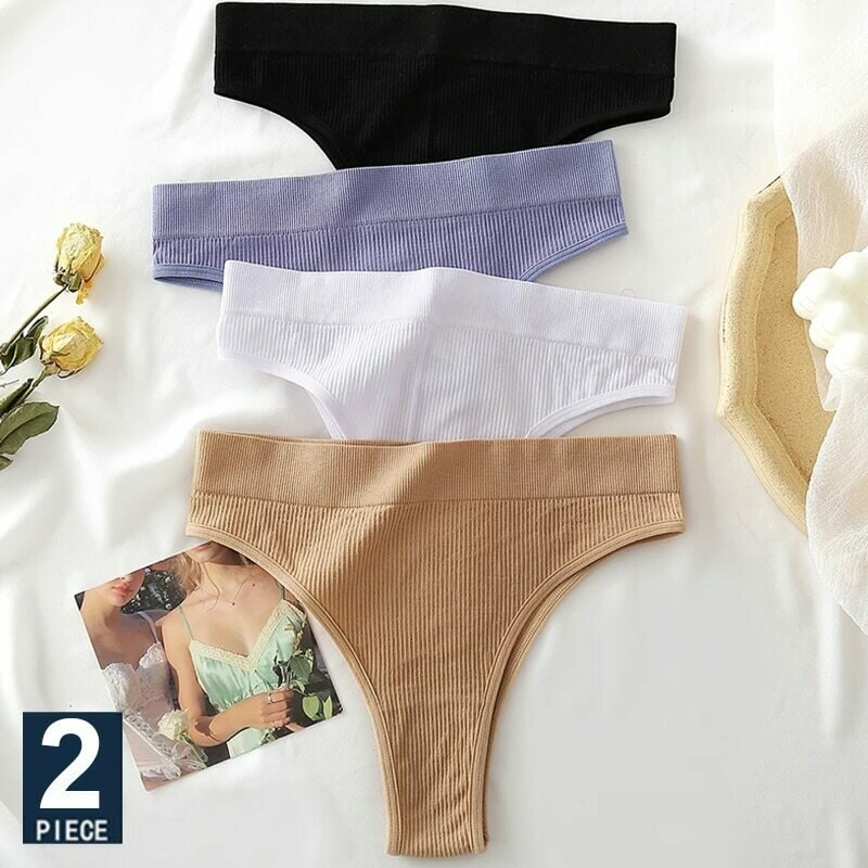 Seamless Women Pantys Girls Thongs High Waisted Soft Woman Briefs Fashion 6 Solid Colors S-XL Sexy Underpants For Women New