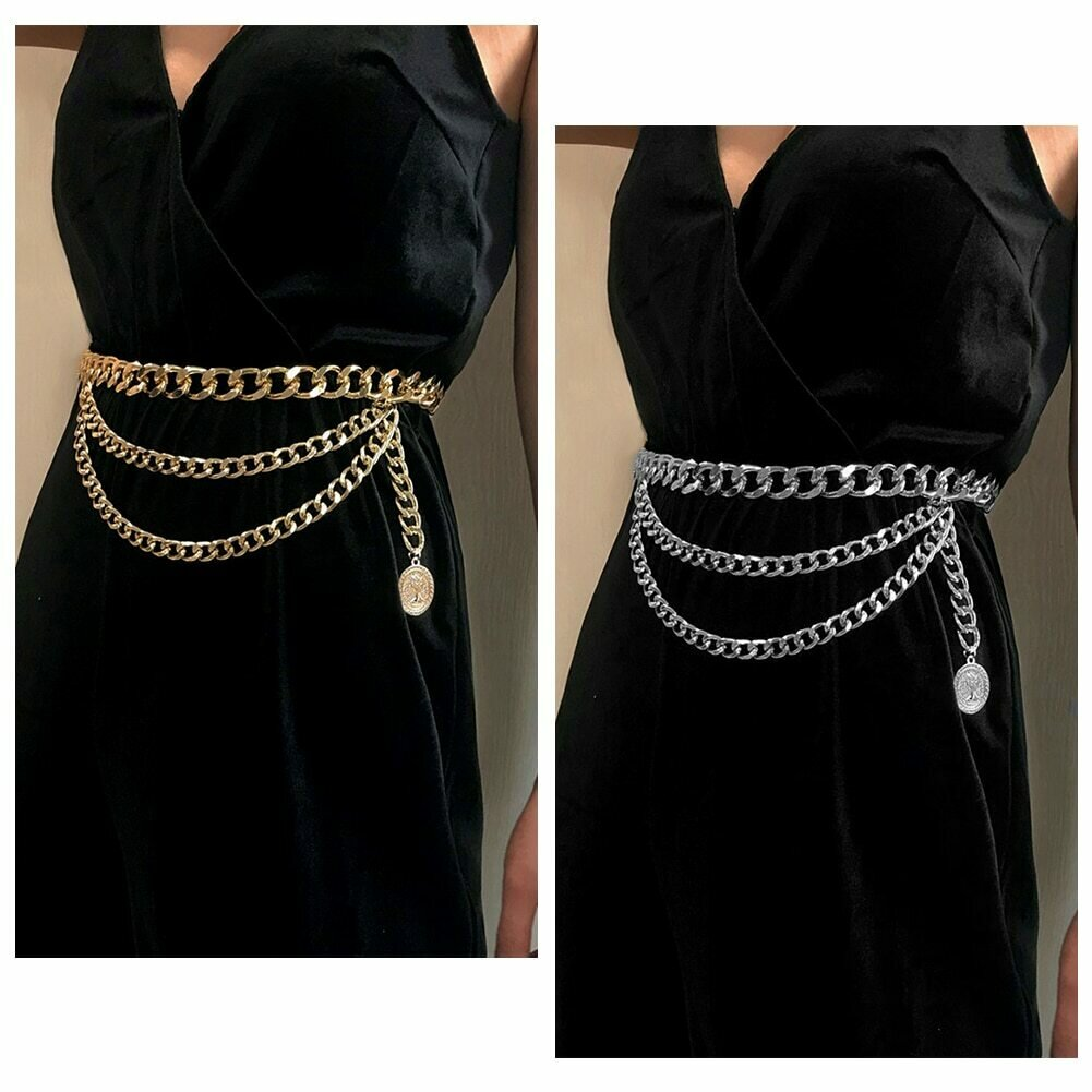 New Pants Belt Chain Clothing Accessories Multi-layer Waist Chain Hip Hop Tassels Fashion Special Appearance Choker Jewelry gift