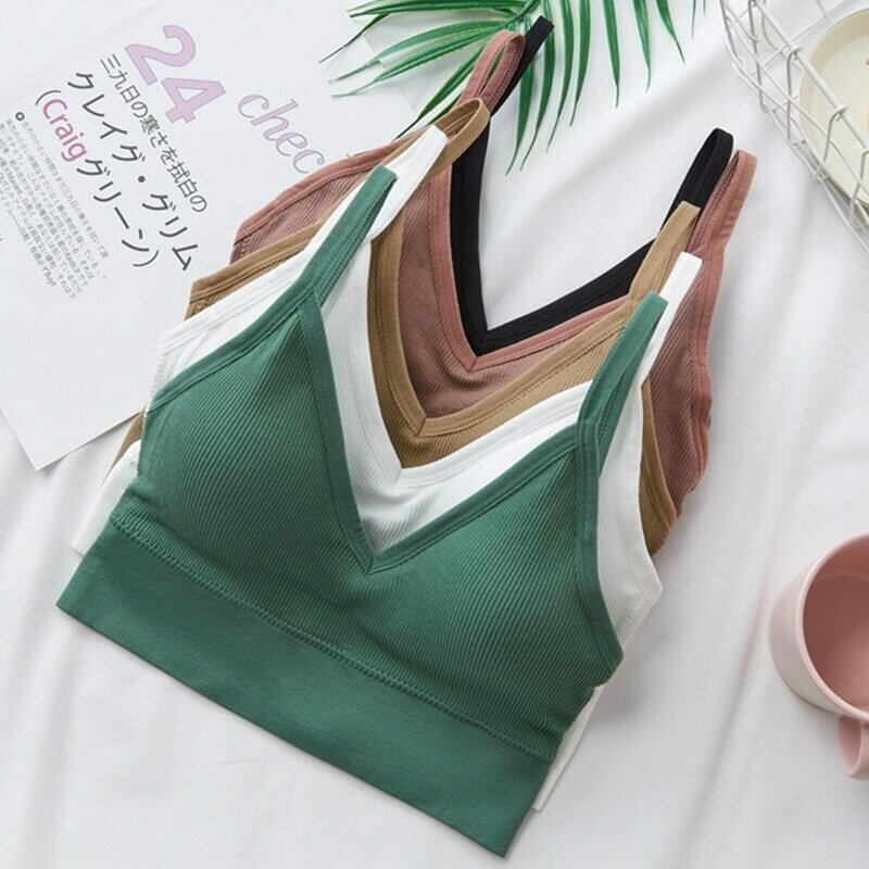 Women Sexy Crop Tops Tube Top Female Streetwear Sleeveless Camis Seamless Sports Lingerie Tee Bra Crop Top Bandeau Top Tank